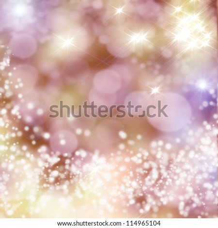 Christmas background with white snowflakes - stock photo