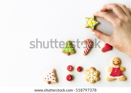 Christmas Bakery Gingerbread Cookies Concept