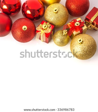 christmas ball and christmas gift background