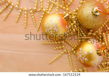 Christmas ball decorations.