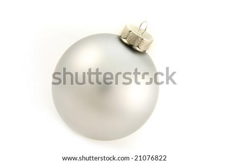christmas ball gray - stock photo