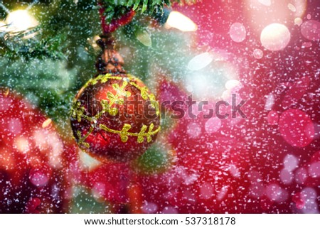Christmas ball. Holiday background
