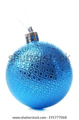 Christmas ball, isolated on white - stock photo
