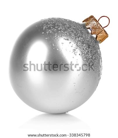 Christmas ball isolated on white  - stock photo