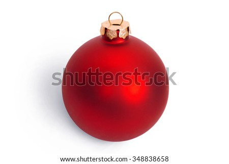 Christmas ball isolated on white background - stock photo