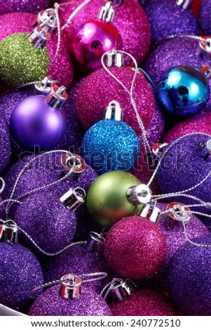 Christmas ball ornaments - stock photo