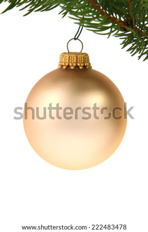 Christmas ball with copyspace (also on the ball itself)