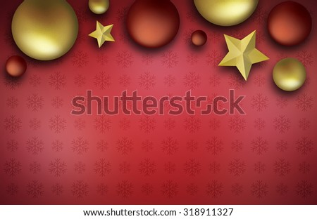 Christmas ball with decoration on a wooden board