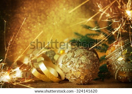 Christmas balls - stock photo