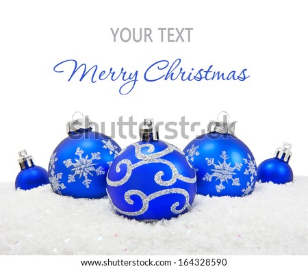 Christmas balls background - stock photo