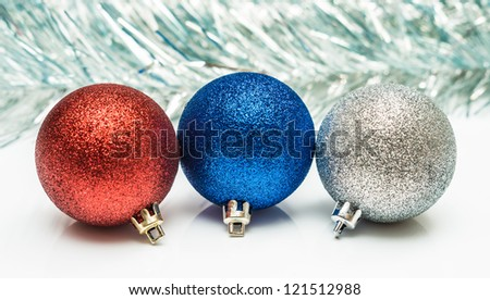 Christmas balls in different colors