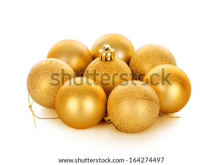 Christmas balls, isolated on white background