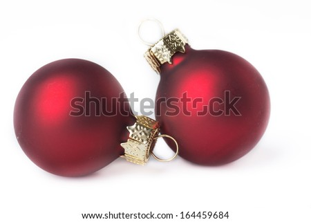 Christmas balls isolated on white background