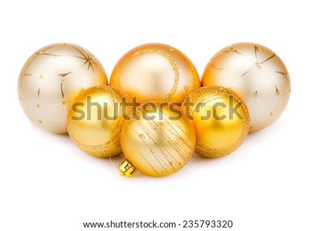 Christmas balls  isolated on white background. - stock photo