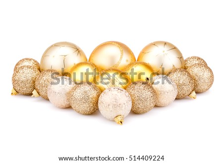 Christmas balls  isolated on white background.