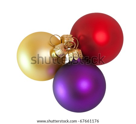 Christmas balls. Isolation