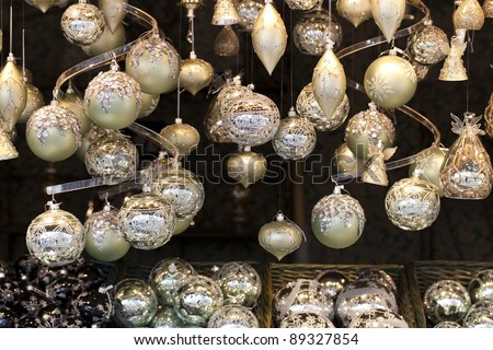 Christmas Balls of an advent markt stall