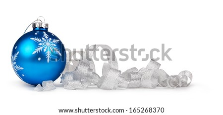 christmas balls on a white background - stock photo
