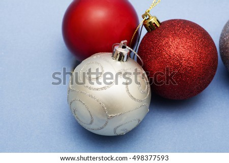 Christmas balls ornaments for decoration