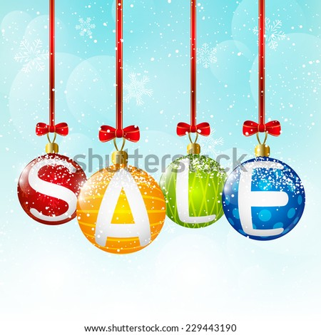 Christmas balls with sale message