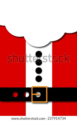 Christmas Banner, Santa Background - stock photo