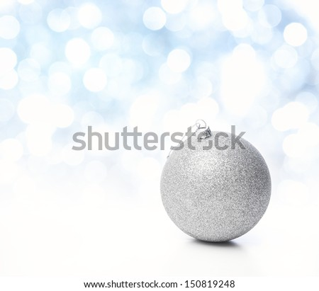 Christmas bauble, Copy space - stock photo