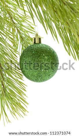 Christmas bauble. Isolated on white background - stock photo