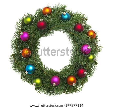 Christmas Bauble with tag - stock photo