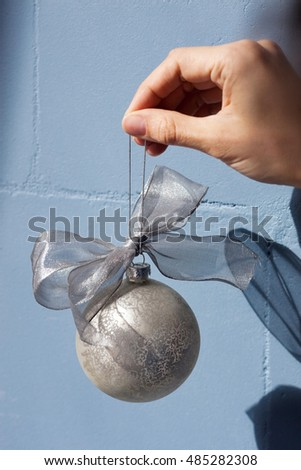 Christmas bauble with wall on a background