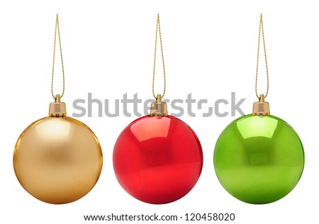 Christmas baubles. - stock photo