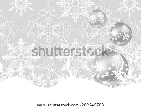 Christmas baubles. Christmas card. Holiday background. Christmas decoration. Grey background - stock photo