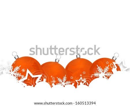 Christmas baubles for your design. - stock photo