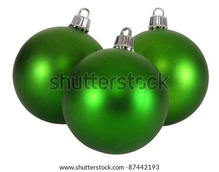 Christmas baubles. Isolated - stock photo