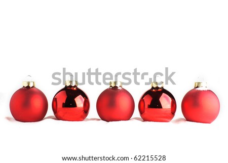 Christmas Baubles Isolated On ...