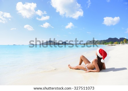 Christmas bikini stock images royalty free images vectors shutterstock for Travel swimsuit