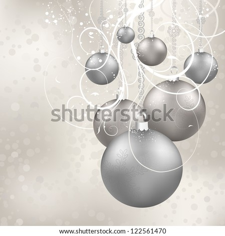 Christmas Beauty Balls On A Candy Holiday Background