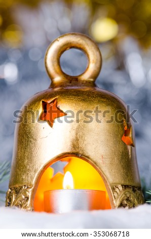 christmas bell - stock photo