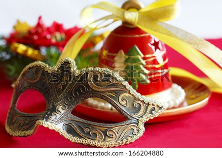 Christmas bell and mask for masquerade