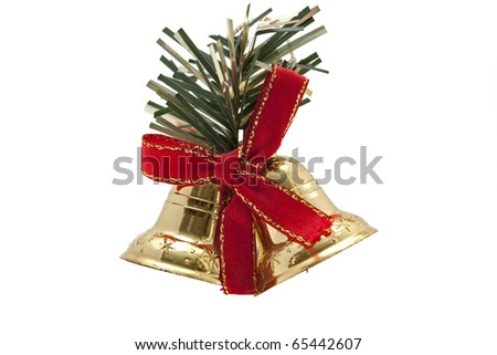 christmas bell isolated on white background - stock photo