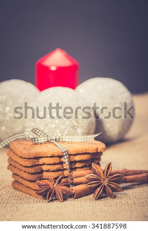 Christmas biscuits, Almond biscuits,