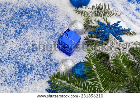 christmas blue silver decoration