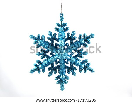 christmas blue star - stock photo