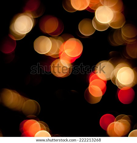 Christmas blurred lights background. Defocused lights background. Bokeh sparkling lights. Abstract colorful background. - stock photo