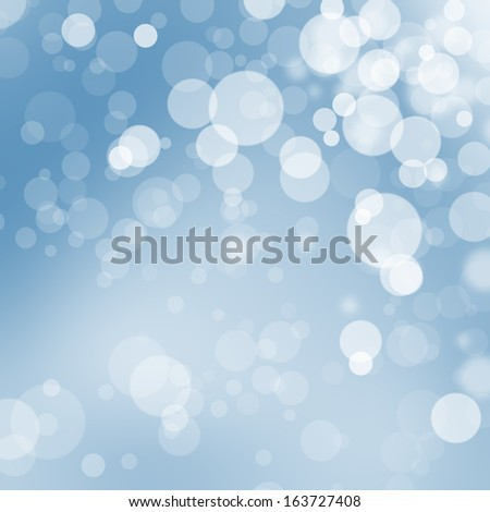 Christmas bokeh ball background illustration in sky blue