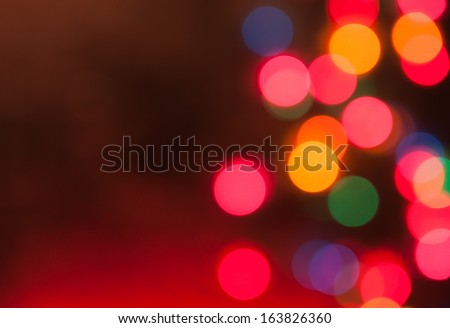 Christmas bokeh lights in holiday washed light - stock photo