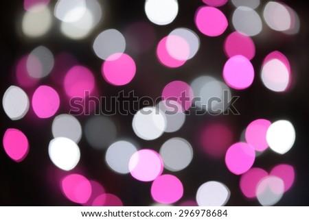 Christmas bokeh party light - stock photo