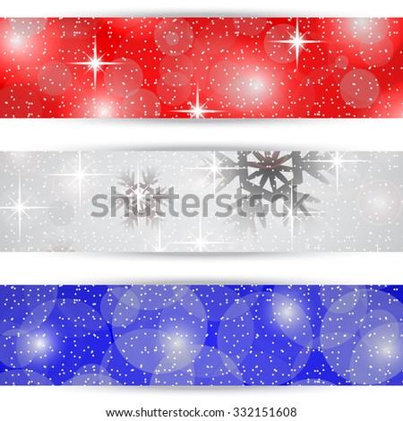 Christmas bookmarks on white background - stock photo