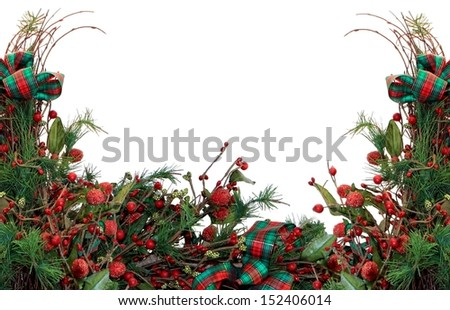 Christmas Border Background - stock photo