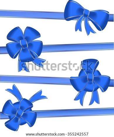 Christmas bow decoration - raster