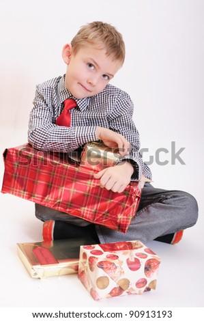 Christmas boy - stock photo
